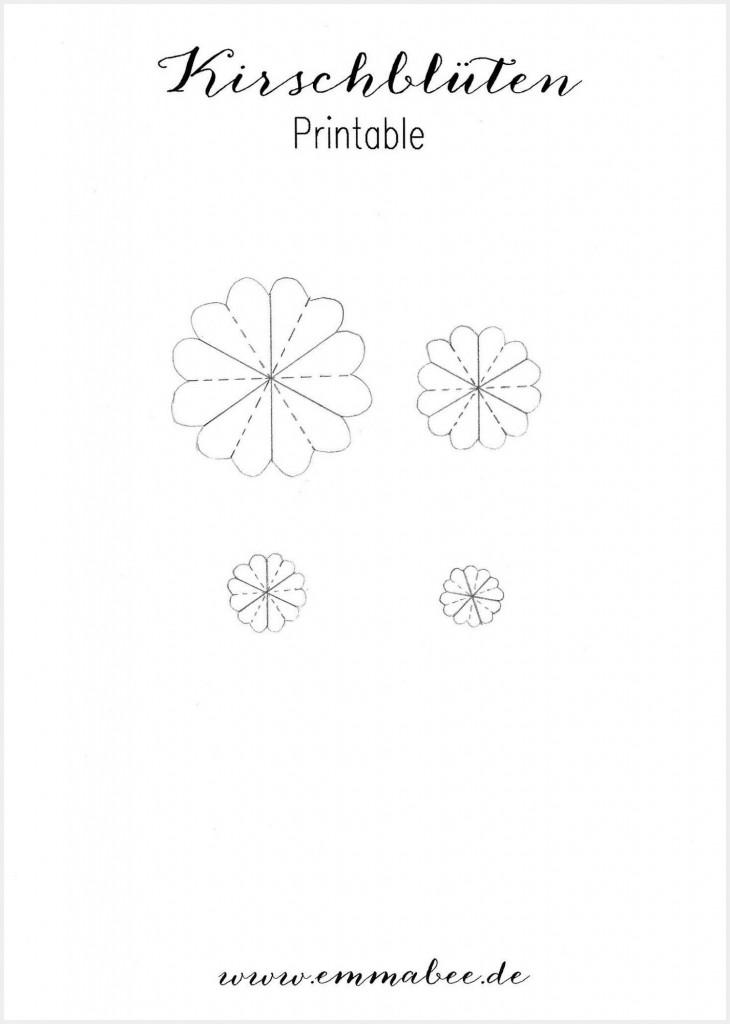 Kirschblüten Printable