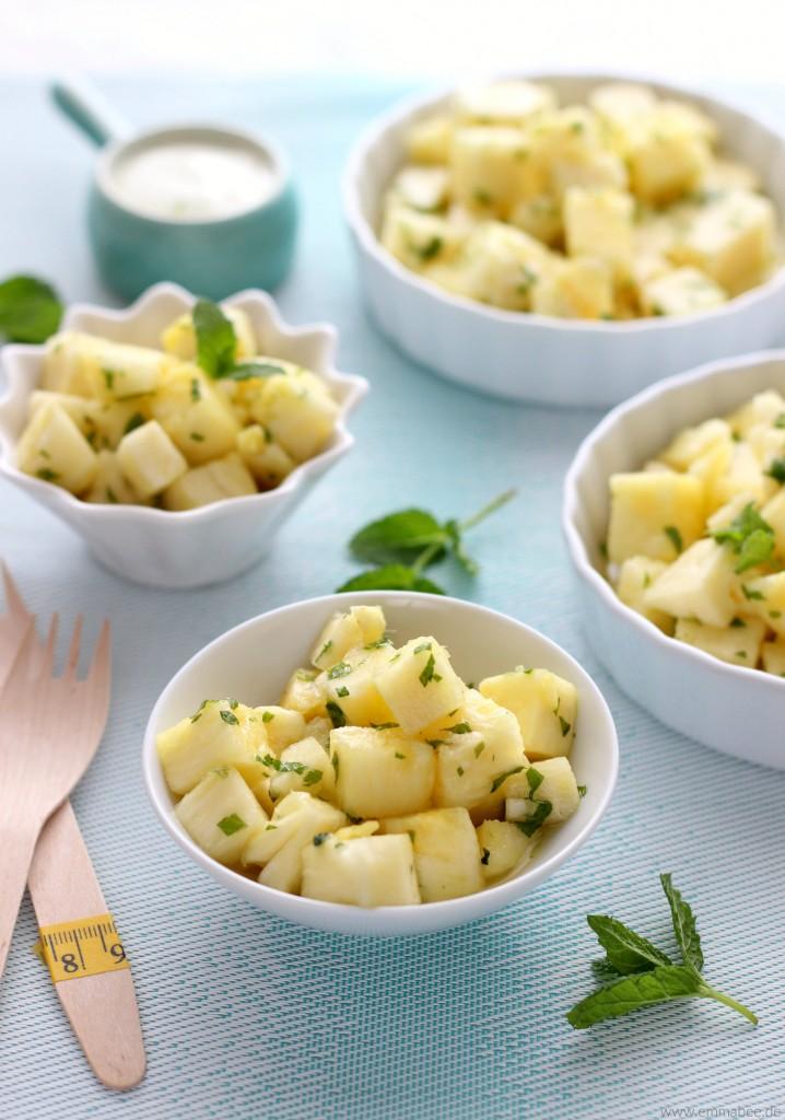 EmmaBee Rezept Ananas-Minz-Salat
