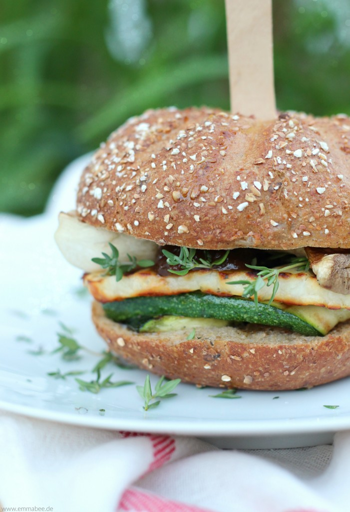 EmmaBee Rezept Vegetarischer Halloumi-Burger