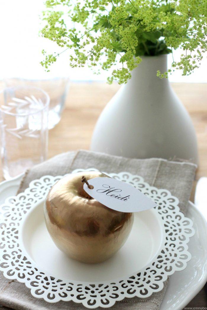 {DIY} Schnelle herbstliche Tischdekoration
