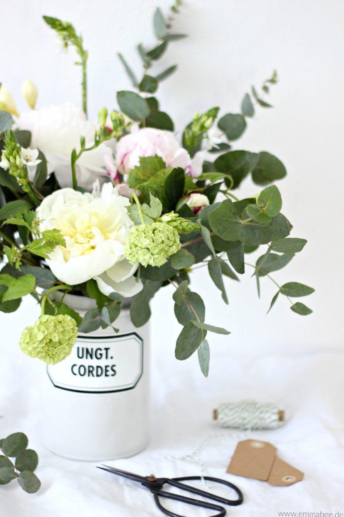 {DIY} Mit Blumen dekorieren: Der 5-Minuten Frühlingsblumenstrauss Enthält unbezahlte Werbung