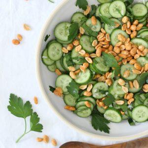 EmmaBee Rezept Gurken-Erdnuss-Salat