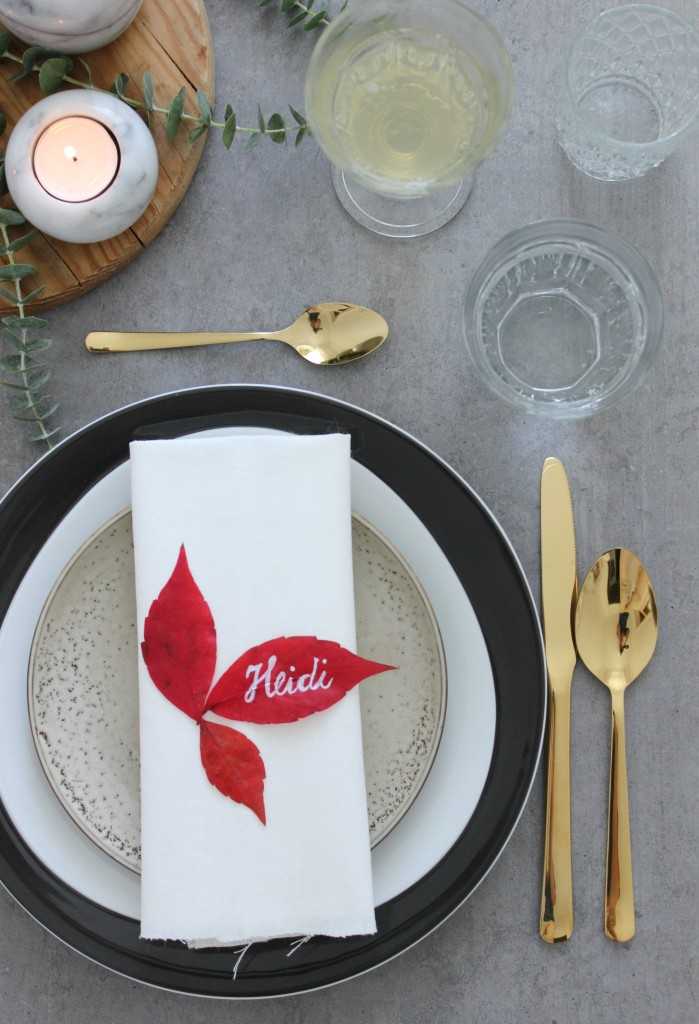 EmmaBee DIY Herbst-Tischdekoration