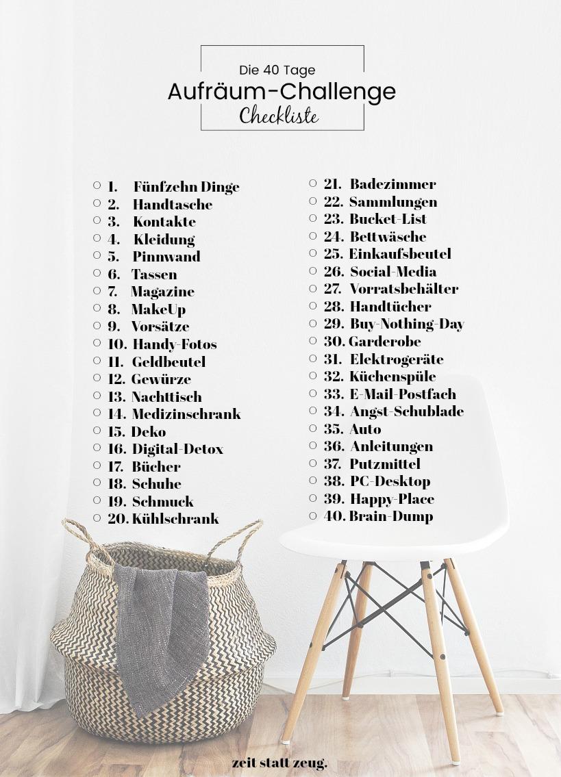 Leben} Happy 2019 mit der 40-Tage Aufräum-Challenge! - Emma Bee